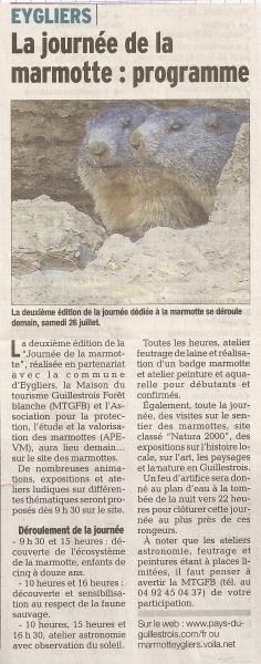 2e edition de la fete de la marmotte 25 juillet 2014 1