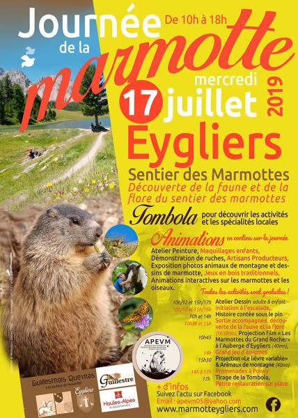 Affiche journée de la marmotte 2019