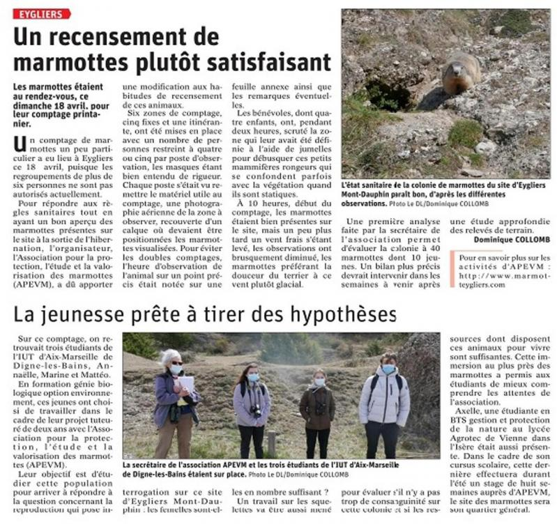 Article 21 avril 2021