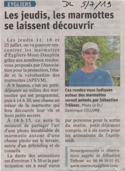 Dauphine libere 5 juillet 2019